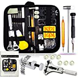 Watch Repair Kit,Watch Case Opener Spring Bar Tools,Watch Battery Replacement Tool Kit,Watch Band Link Pin Tool Set with Carrying Case and Instruction Manual …