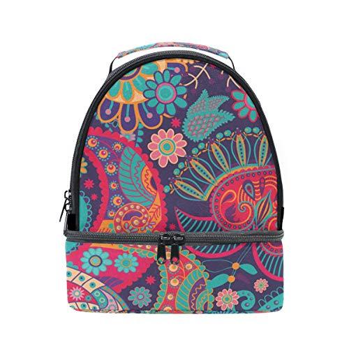 aislante ajustable para étnico floral Bolsa pincnic hombro con el de estampado para con correa de almuerzo escuela la FOLPPLY PF0wqv0