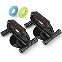 INTEY Push up Bars Push up Handles Fitness Perfect Pushup Exercise Equipment with Strong Suction Bonus 2 Hand Strengthener Rings