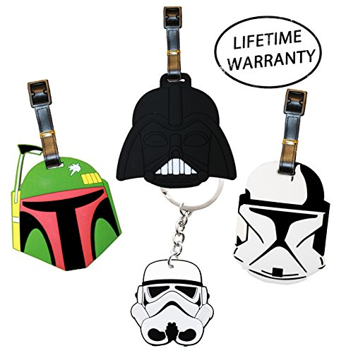 Price comparison product image DIYJewelryDepot Boba Fett Star Wars Luggage Darth Vader Clone Trooper Tags Keychain