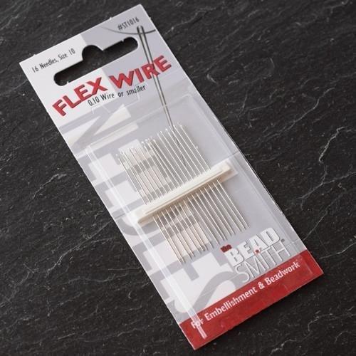 (Flex Wire Beading Needles Size 10 | Pack of 1 (16 Needles) | Many Colours & Sizes)