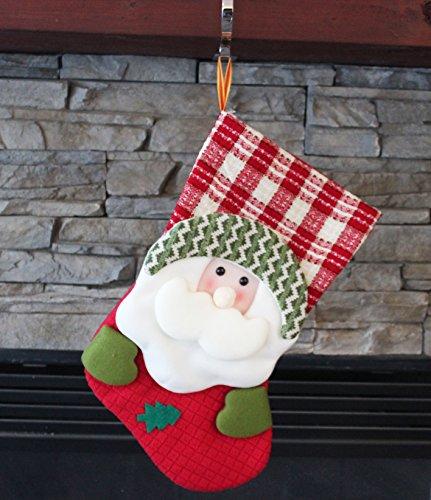 3D Plush Santa Christmas Stocking