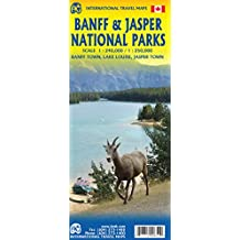 BANFF AND JASPER NATIONAL PARKS Travel Reference map