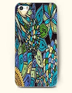SevenArc Apple iPhone 5 5S Case Moroccan Pattern ( Green and aqua Flowers )
