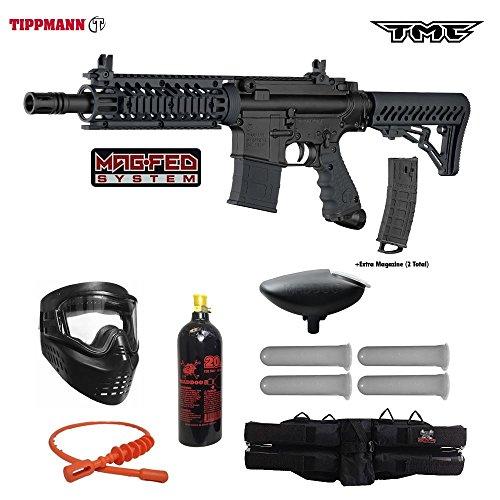 Tippmann TMC MAGFED Silver Paintball Gun Package – Black/Black For Sale