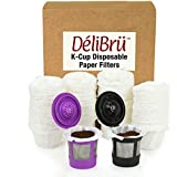 Optional Disposable Paper Filters for Reusable K Cups Fits All Brands (200/Box)