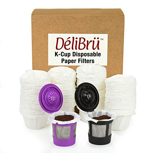 Disposable Paper Filters for Reusable K Cups Fits All Brands - Disposable K Cup Paper Filter (100/Box)