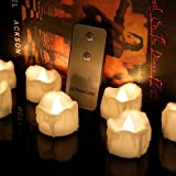 Micandle Realistic Flameless Candles – 96PCS Flickering Flameless Wax Dripped Warm White LED Candles, With 2 keys Remote control; Lasting About 48 hours,For Wedding,Holiday,Home Decor-1.3''D x 1.45''H