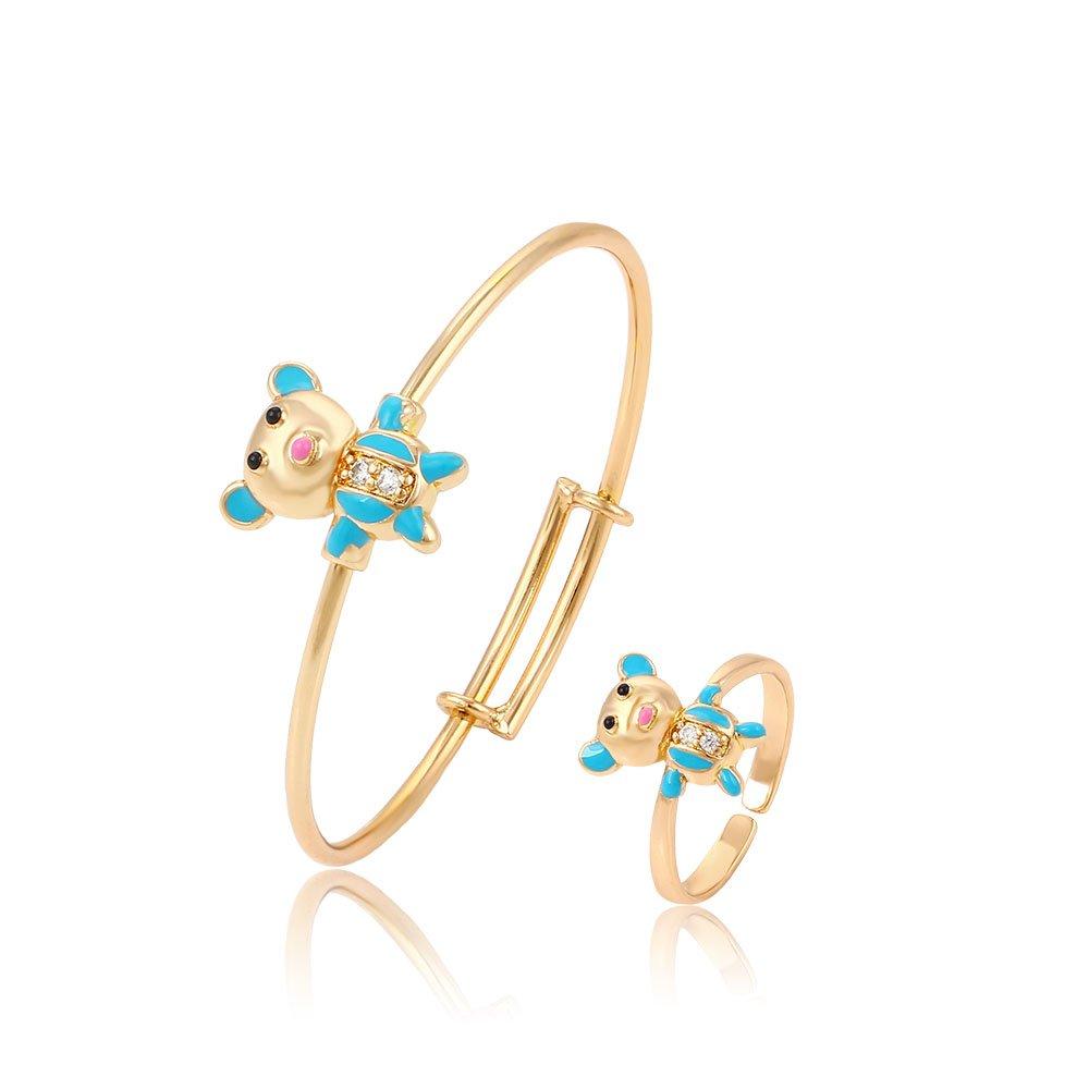 XUPING Bracelet et bague bébé en or plaqué or 18 carats bijoux pour enfants GUANGDONG XUPING JEWELLERY 6111400