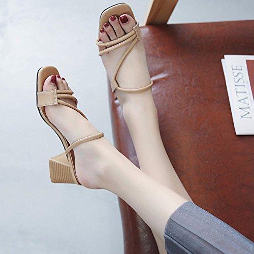 albaricoque Sandalias Zapatos Sandalias QPSSP color Sandalias Señoras Sandalias De Zapatos Zapatillas De Sandalias 0T1xxqn7w