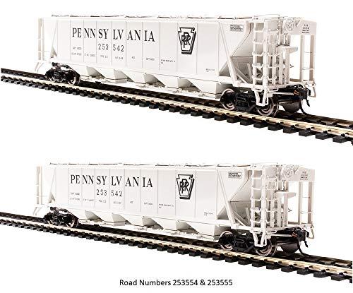 H32 Covered Hopper, Pennsylvania Railroad, Gray with Black Shadow Keystone, ()