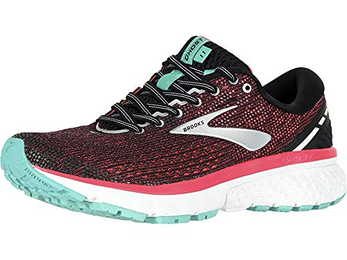 Brooks Women's Ghost 11 Black/Pink/Aqua 10.5 AA US