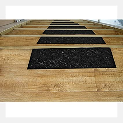 Indoor Best Grip 6 Inch x 15 Foot- Outdoor 6inch, Black Tread Step Friction Anti Slip Traction Tape Black Abrasive Adhesive for Stairs Safety