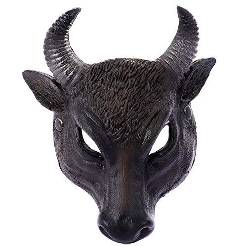 Mask Lifelike Halloween Buffalo Head 3D for Carnival Party Theme Dress Up, Cosplay