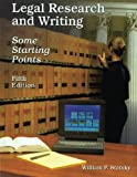 img - for Legal Research and Writing book / textbook / text book