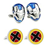 Outlander Gear Marvel Comics 2 Pairs War Machine & X-MEN Superhero 2018 Movie Mens Boys Cufflinks