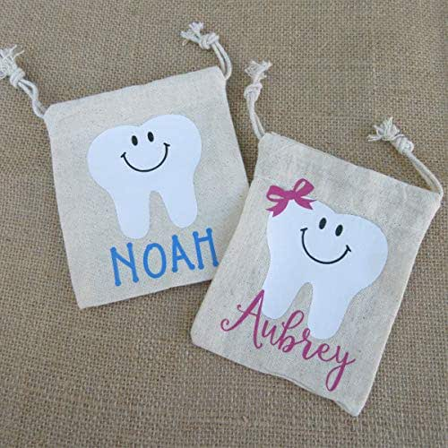 Personalized Tooth Fairy Keepsake Bag Pouch