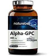 Alpha GPC Choline Supplement, 600mg Per Serving, 60 Capsules, Powerfully Enhances Memory Function & Strengthens Membranes. Pharmaceutical Grade, Non-GMO, Soy-Free and Made in USA.
