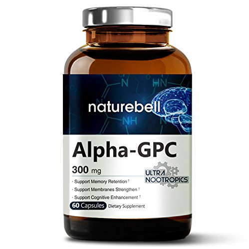 Alpha GPC Choline Supplement, (300mg 60 Capsules), Pharmaceutical Grade, Ultra Nootropics, Made in USA