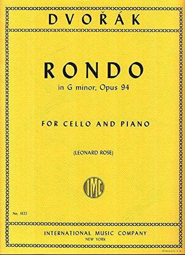 DVORAK - Rondo Op.94 en Sol menor para Violoncello y Piano (Rose) pdf