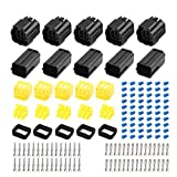 X AUTOHAUX 6 Pins Way Car Waterproof Automotive Electrical Connector 1.8mm Series 5 Sets