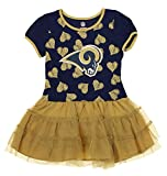 Outerstuff NFL Kids Girls Los Angeles Rams Love To Dance Tutu, Green Large (6X)