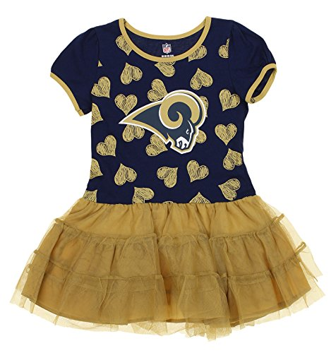 Outerstuff NFL Kids Girls Los Angeles Rams Love To Dance Tutu, Green Large (6X) by Outerstuff
