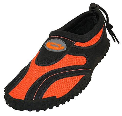 Cambridge Select Donna Scarpe Chiuse Antiscivolo Quick Dry Slip-on Water Shoe Nero / Arancione