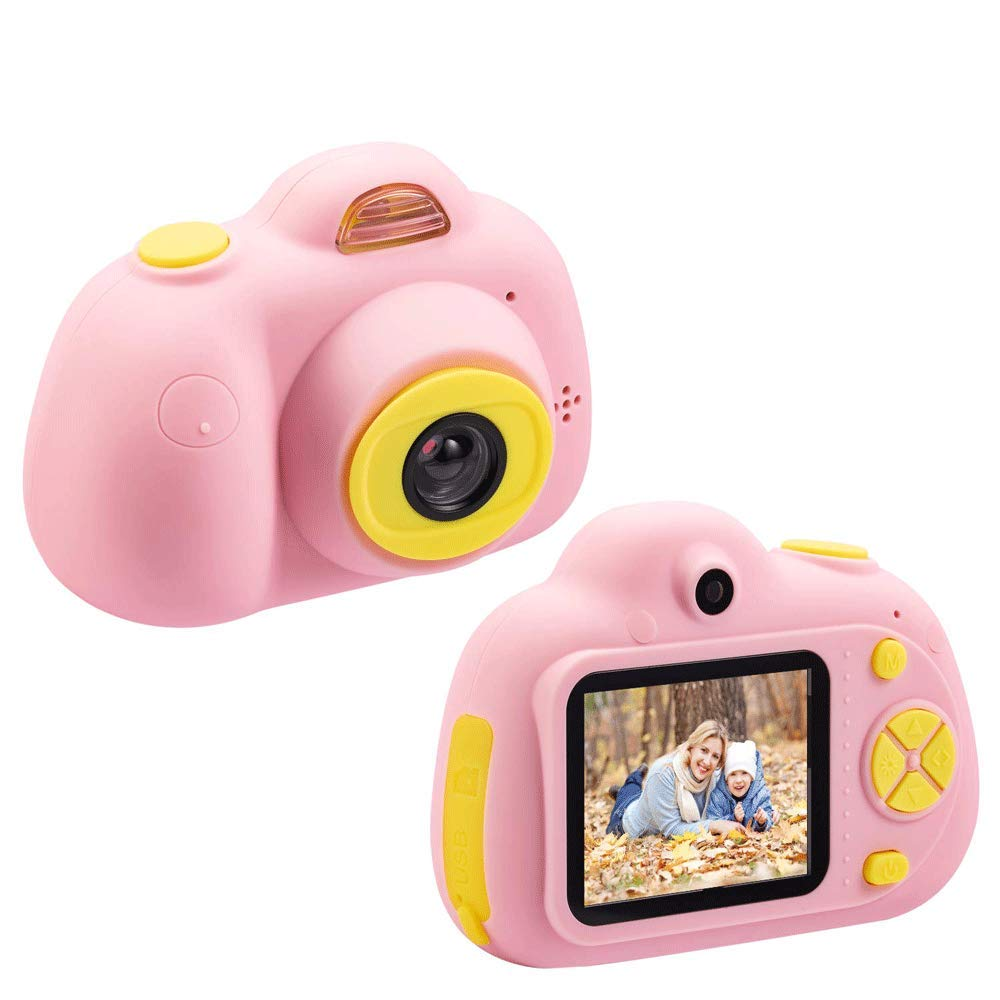 Balee Kids Digital Camera 2 inch Screen Digital Video Camera Creative DIY Selfie Camera for Kids with 16GB Memory SD Card (Pink) by Balee (Image #3)