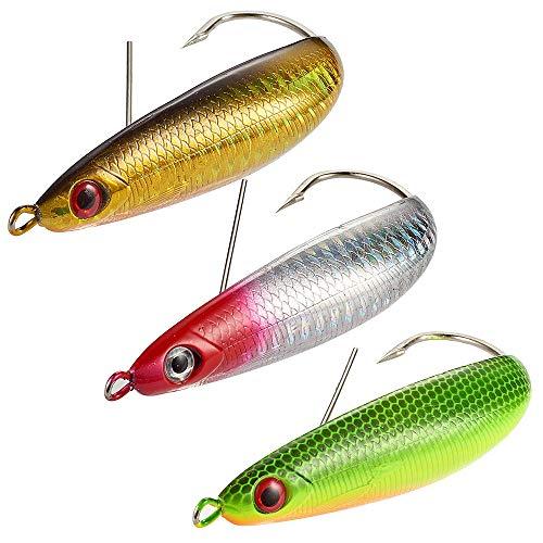 - Dr.Fish Long Casting Spoon Saltwater Fishing Lures Kit 3pcs Minnow Spoon Weedgurad Lure 3.6