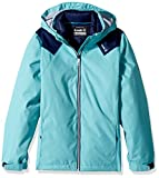 Kamik Winter Apparel Girl's Lux 3 in 1 Down, Capri/Navy, 6