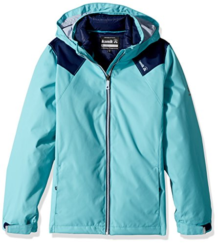 Kamik Winter Apparel Girl's Lux 3 in 1 Down, Capri/Navy, 5 by Kamik Winter Apparel