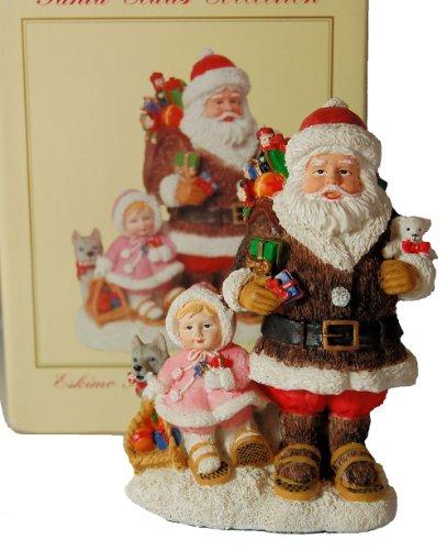 International Santa Claus Collection ; Eskimo Santa & Snow Baby Alaska SC59 Christmas Decor