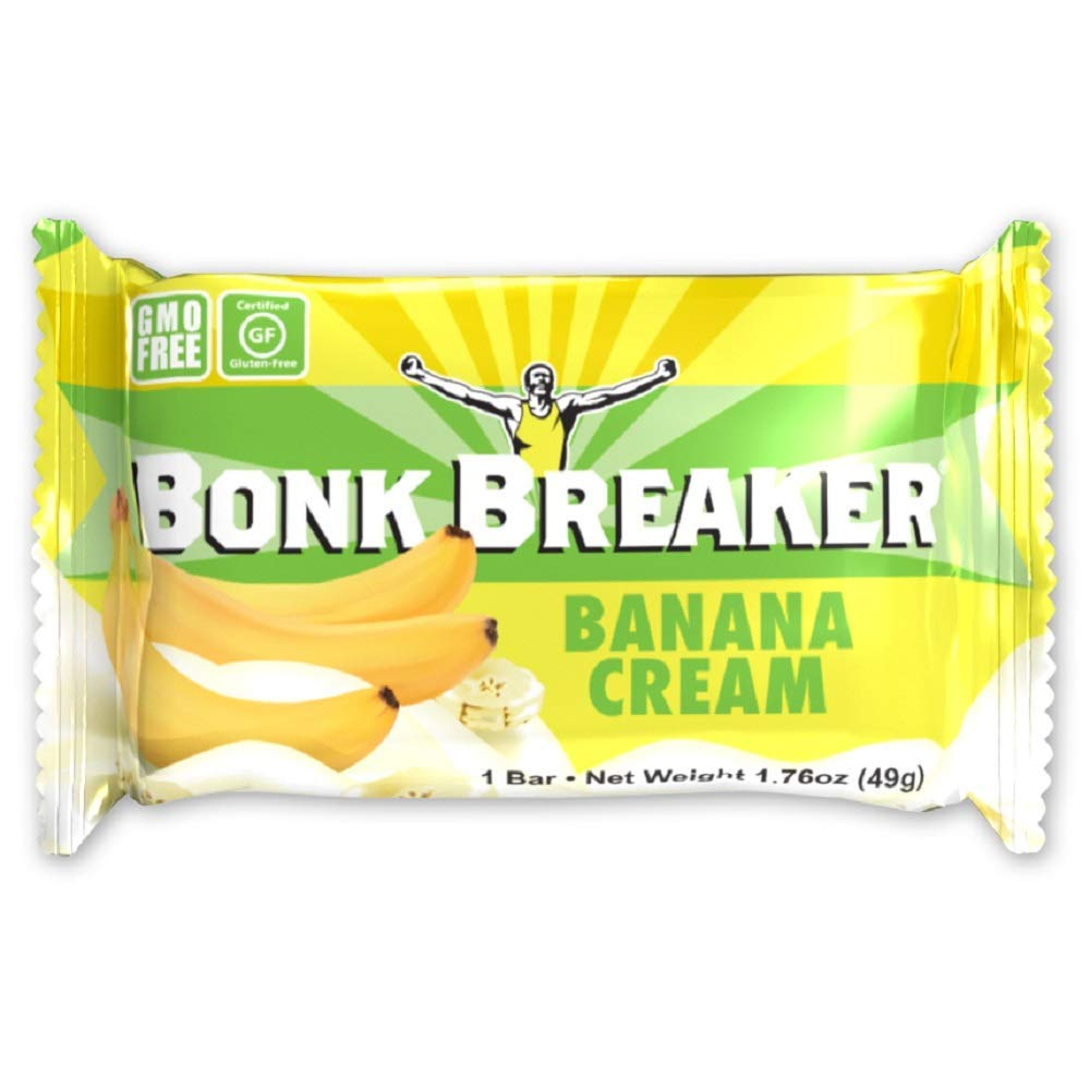 Bonk Breaker Energy Bar, Banana Cream, 1.76 Oz (12 Count), Gluten Free & Dairy Free