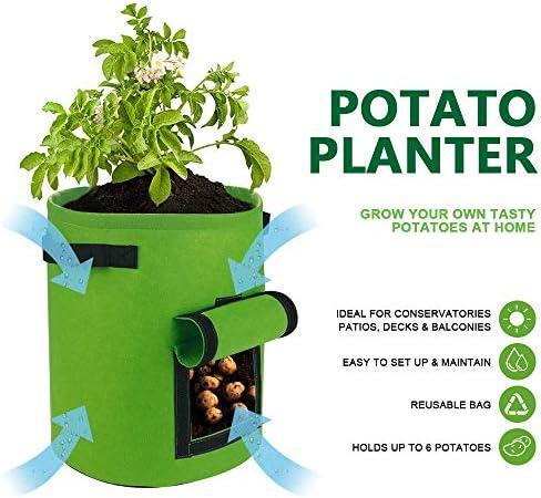 Gartenwanne f/ür Gem/üse mit Klappenzugang TOUCH-RICH Kartoffel-Pflanzbeutel