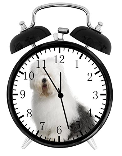 Old English Sheepdog Alarm Desk Clock Home Office Decor F138 Nice For Gifts