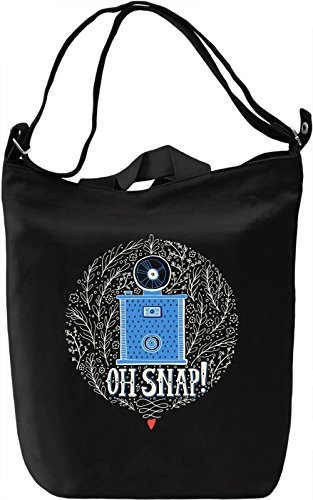 Snap Borsa Giornaliera Canvas Canvas Day Bag| 100% Premium Cotton Canvas| DTG Printing|