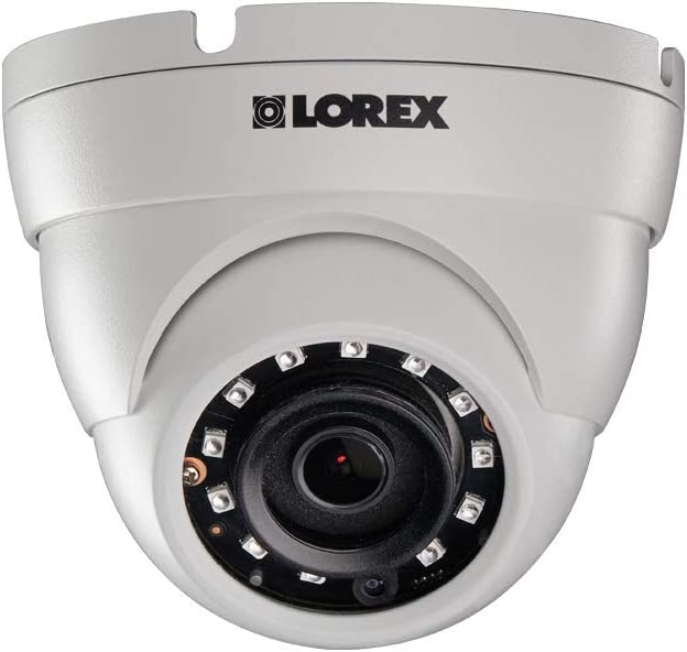 Lorex E581CD Series 5MP Super HD Indoor Outdoor Day Night IP Security Dome Camera with 2.8mm F2.0 Fixed Lens, 2592×1944, IP67 Weatherproof, Color Night Vision – 1 Pack