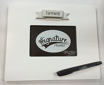 Farewell Signature Photo Frame The Frame You Sign Around Amazon