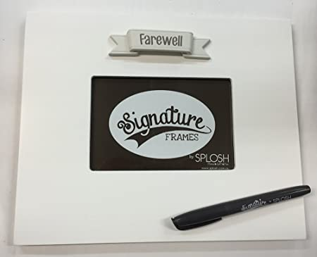 Farewell Signature Photo Frame The Frame You Sign Around Amazon