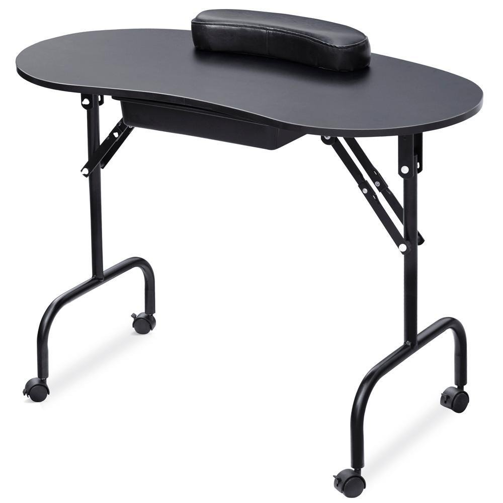 30% Off Yaheetech Portable & Foldable White Manicure Nail Table ...