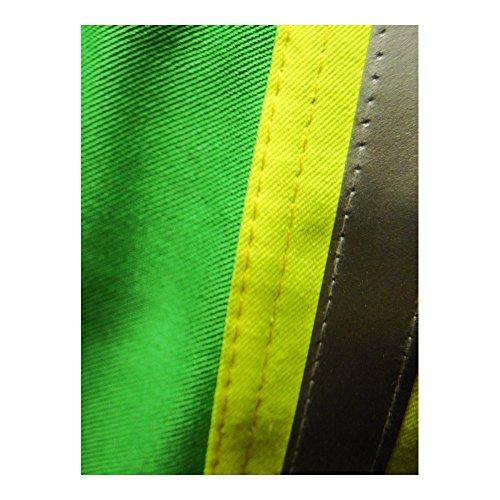 Magid Glove & Safety IND2530HV Magid IND2530HV Arc-Rated 12 oz. 100% FR Cotton Jacket with Hi-Viz Stripes by Magid Glove & Safety (Image #2)