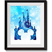 Uhomate Tinkerbell Peter Pan Princess Cinderella Castle Home Canvas Prints Wall Art Anniversary Gifts Baby Gift Inspirational Quotes Wall Decor Living Room Bedroom Artwork C011 (13X19)