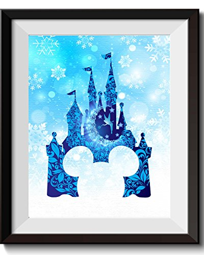 (Uhomate Tinkerbell Peter Pan Princess Cinderella Castle Home Canvas Prints Wall Art Anniversary Gifts Baby Gift Inspirational Quotes Wall Decor Living Room Bedroom Artwork C011 (8X10))