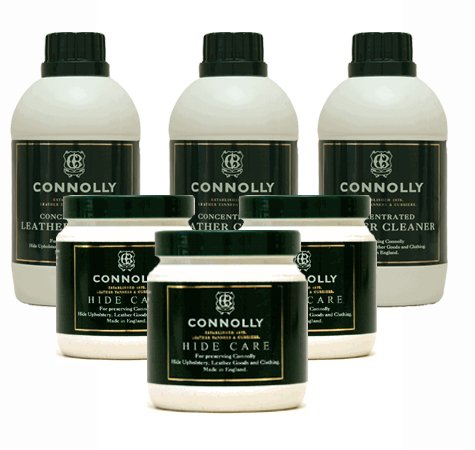 Connolly Leather Cleaner (3pk) & Connolly Conditioner (3pk) Kit by Connolly