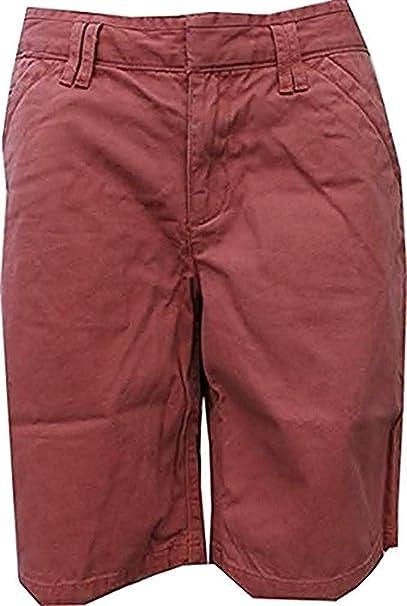 Shorts Bermudas Mujer de Eddie Bauer - algodón, Granate, 100 ...