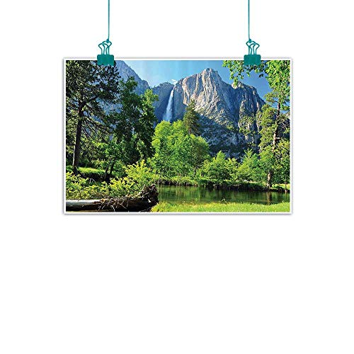 funkky Apartment Decor Collection Modern Frameless Painting Upper Yosemite Falls Cliff Yosemite National Park California Panoramic Picture Bedroom Bedside Painting 35