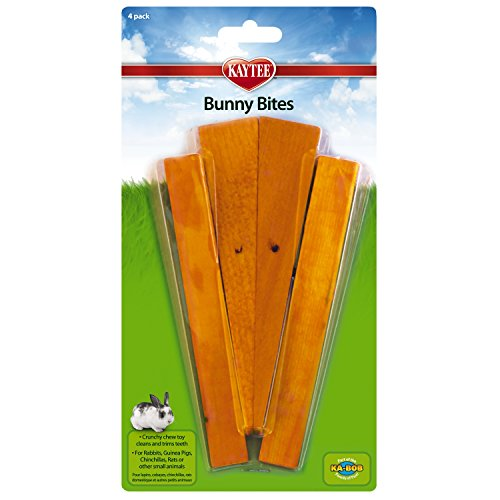 Super Pet Bunny Bites Pre-Drilled Wood Chew Treats for Pet Critters - 16 Total Chew(4 Packs with 4 per Pack)