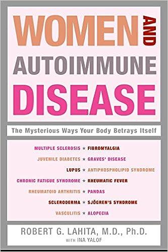 Women And Autoimmune Disease The Mysterious Ways Your Body Betrays Itself Lahita Robert G Yalof Ina L 9780060081508 Amazon Com Books