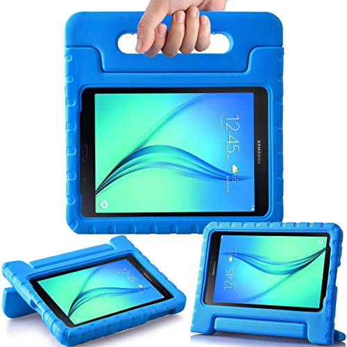AVAWO Kids Case for Samsung Galaxy Tab A 8.0 2015 SM-T350 - AVAWO Light Weight Shock Proof Convertible Handle Stand Kids Friendly for Samsung Tab A 8-Inch SM-T350 Tablet, Blue